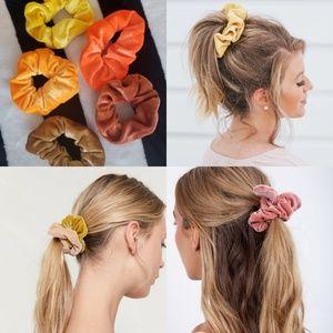 🖤⭐VELVET HAIR SCRUNCHIES BUNDLE OF 5 NEW⭐🖤